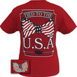 Girlie Girl Originals Tied to the USA Flag Bow American Patriotic Southern Bright T Shirt