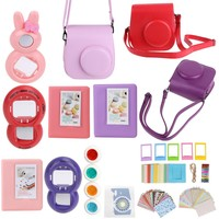 Red/Pink/Purple 9 in 1 Instant Film Camera Album Bundles Kit Photo Frame Sticker Camera Case Bag for Fujifilm Instax Mini 8