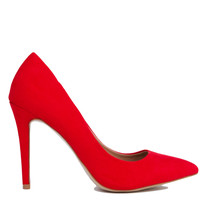 Pointed Toe Red Pumps
