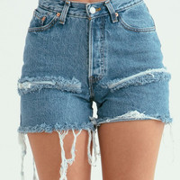 Slit Denim Shorts By Sorella