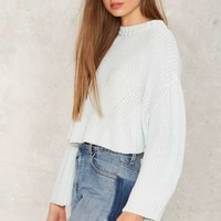 No Chill Crop Sweater
