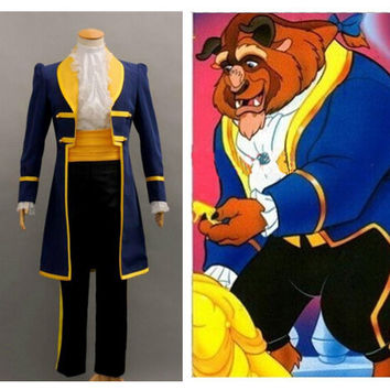 Beauty and Beast Movie Cosplay suit costume Prince halloween  SQ12017