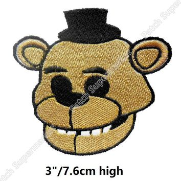 AT  Freddy game  EMBROIDERED PATCHES For clothing backpack birthday party favor cosplay costume diy