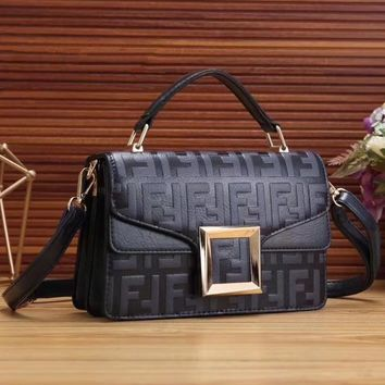 FENDI Fashion Women Shopping Handbag Crossbody Satchel Shoulder Bag-3
