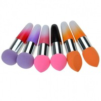 New Women Pro Makeup Cosmetic Brushes Liquid Cream Foundation Concealer Sponge Lollipop Brush 2 PCs Set
