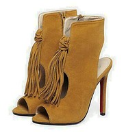 Tassle Front Ankle Party Sandals