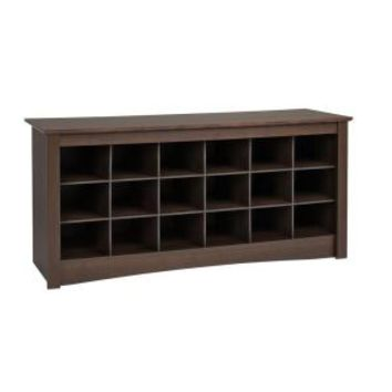 Prepac Sonoma Shoe Storage Cubbie Bench ESS-4824 at The Home Depot - Mobile
