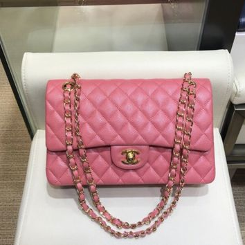 Double C Quilted Hot Pink Bag