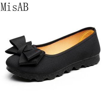 2017 Women Flats Casual shoes for women bowtie autumn spring woman flat shoes breath soft bottom footwear leisure outdoor shoes