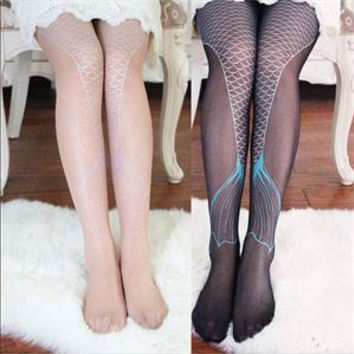 Mermaid Tail Printed Tights