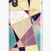'Stylish Elegant Colorful Girly Marble Pattern' iPhone Case by Quaintrelle