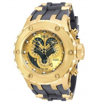 Invicta 18545 Men's Subaqua Specialty Gold Dial Yellow Gold Steel & Rubber Strap Chrono Dive Watch