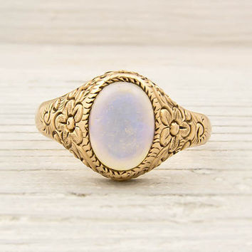 $900.00 Antique Gold Victorian Opal Ring by ErstwhileJewelry on Etsy
