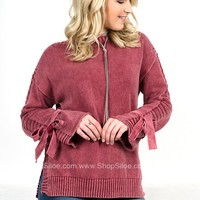 Ribbon Violet Red Sweater