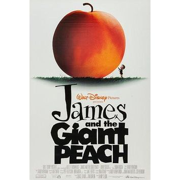 james and the giant peach poster Metal Sign Wall Art 8in x 12in