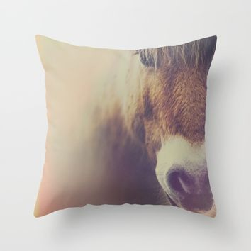 The curious girl Throw Pillow by HappyMelvin | Society6