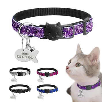 Personalized Quick Release Kitten Cat ID Collar
