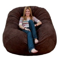 Cozy Sack 6-Feet Bean Bag Chair, Large, Chocolate