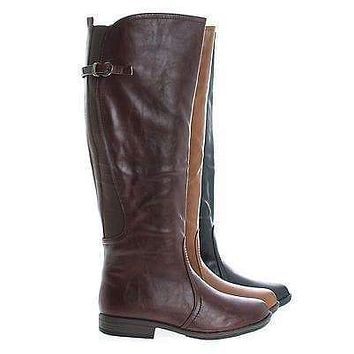 Montage93 By Bamboo, Knee High Equestrian Riding Boots w Elastic Shaft