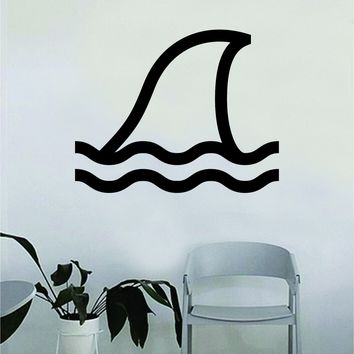 Shark Fin Animal Decal Sticker Wall Vinyl Decor Art Living Room Bedroom Animal Ocean Beach Fish