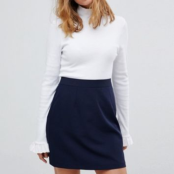 ASOS PETITE Tailored A-Line Mini Skirt at asos.com