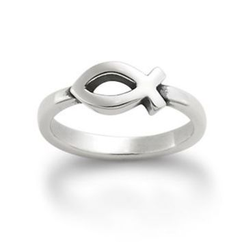 Small Ichthus Ring | James Avery