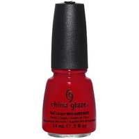 China Glaze Nail Lacquer, Red Satin, 0.5 Fluid Ounce