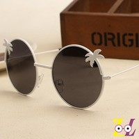 Big island island coconut tree metal sunglasses