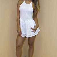 Lemongrass Mini Romper - White
