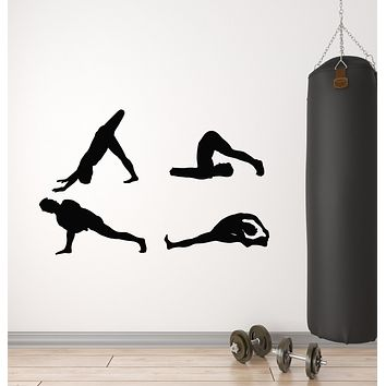Vinyl Wall Decal Exercise Stretching Health Gymnastics Sport Stickers Mural (g2838)