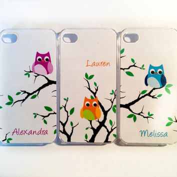 iPhone Case 4/4s/5  Owls iPhone 4/4s/5 Three Case by VanityCases