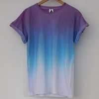 ANDCLOTHING — Purple Blue Horizon Dip Dye Tee <em>Coming Soon </em>