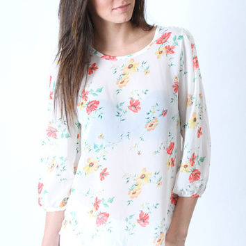 May Flowers Blouse