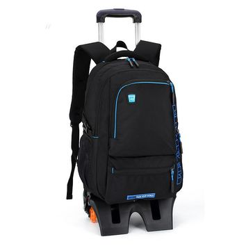Rolling Backpack Wheeled Book Bag Kids Children Trolley School Bags Laptop Travel Backpacks for Boys Backbag On Wheels Luggage