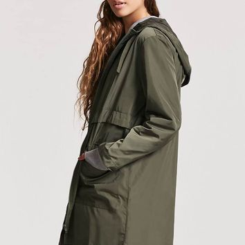 High-Low Hooded Parka