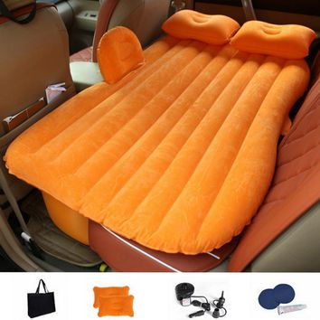 Auto Car Back Seat Cover Car Air Mattress Travel Bed Inflatable Mattress Quality Inflatable Car Bed