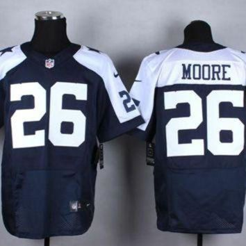 ESBYD9 Nike Dallas Cowboys #26 Sterling Moore Navy Blue Thanksgiving Throwback NFL Elite Jers