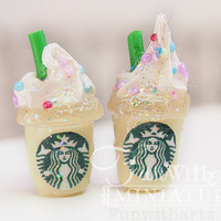 Starbucks Frappe Pluggy  SHort Cup by Siawlei on Etsy