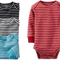 Carter's 4 Pack Striped Bodysuits (Baby) - Assorted-6 Months
