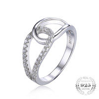 Teardrop Band Ring--925 sterling silver