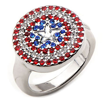 Marvel Womens Avengers Captain America Ring (6)