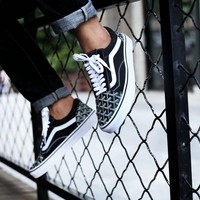 Vans Old Skool X Goyard Customs Low Tops Flats Shoes Canvas Sneakers Sport Shoes