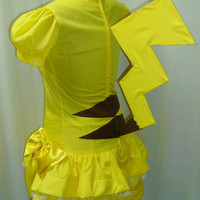 Pokemon Pikachu Lolita Cosplay Costume Size 6 8 10 12 by AGypsyRed