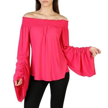 Imperial Pink Boat Neck Long Sleeve Shirt