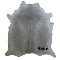 New Cowhide Rugs - Premium Quality - Solid Grey Cowhide - 100% Natural