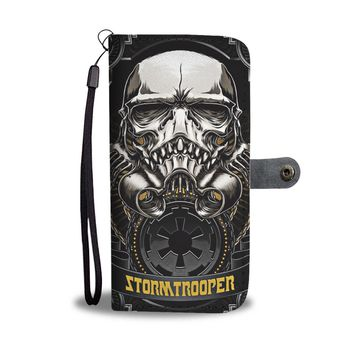 KUYOU Skeleton Skull Stormtrooper Star Wars Wallet Phone Case
