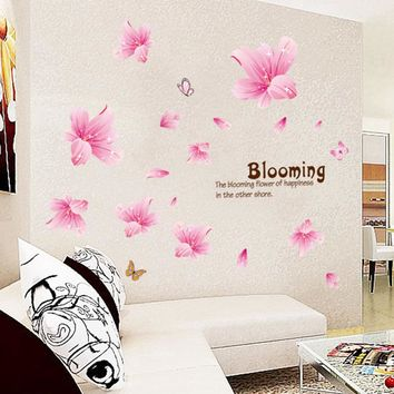 Flowers Lily Wall Sticker for Home Decor