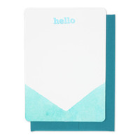 Dip Dyed Hello Card