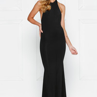 Alamour The Label COCO Black Low Back Formal Gown Dress