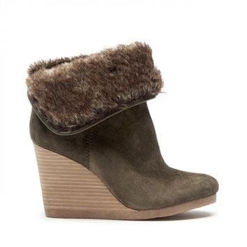 Lucky Brand Torynn Winter Wedge Bootie
